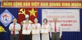Tuyên dương, khen thưởng học sinh đoạt giải kỳ thi Olympic cấp tỉnh